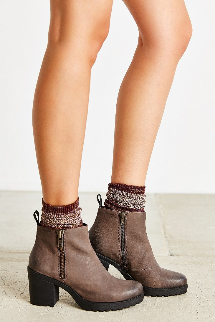 46856b61efef1f Lyst - Vagabond Nubuck Grace Double Zip Boot in Gray