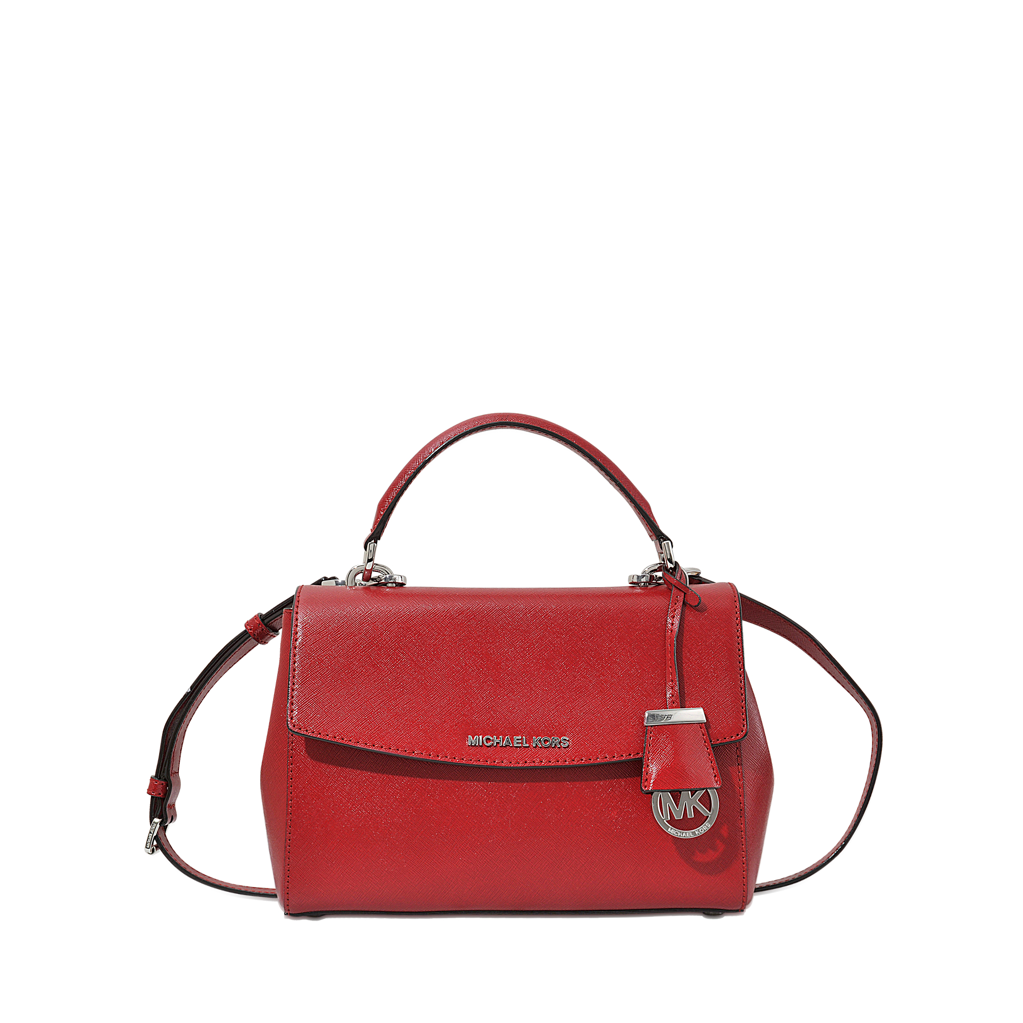 Michael michael kors Ava Small Satchel Bag in Red | Lyst