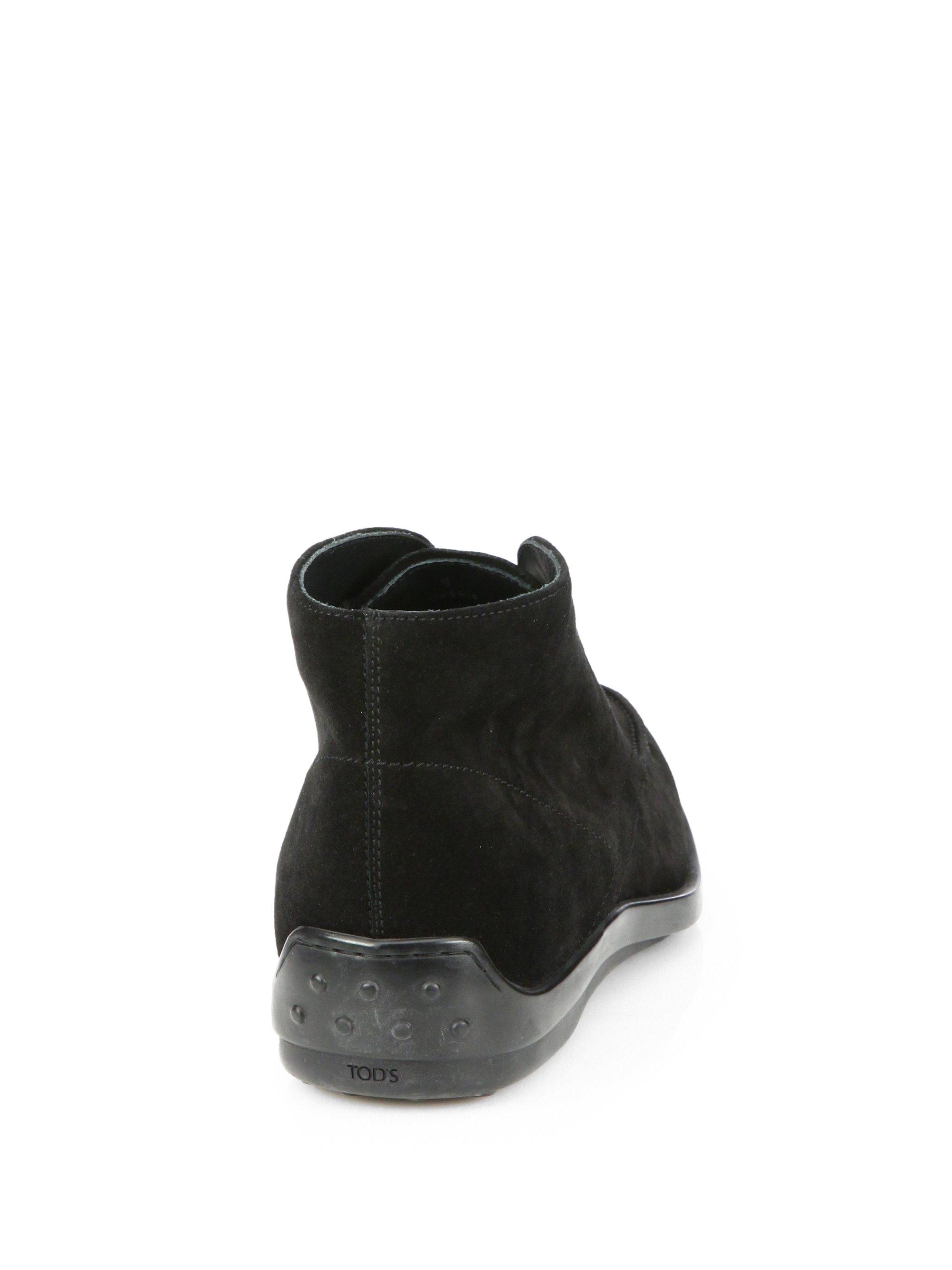 Tod S Quinn Desert Boots In Black For Men Lyst