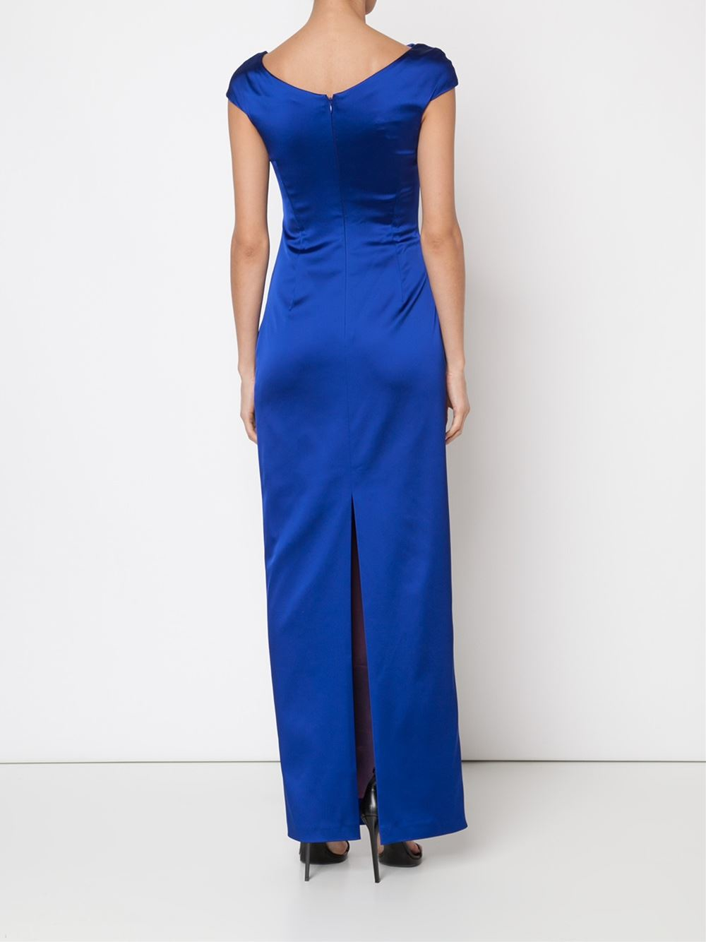 talbot runhof 39 romania 39 dress in blue lyst. Black Bedroom Furniture Sets. Home Design Ideas
