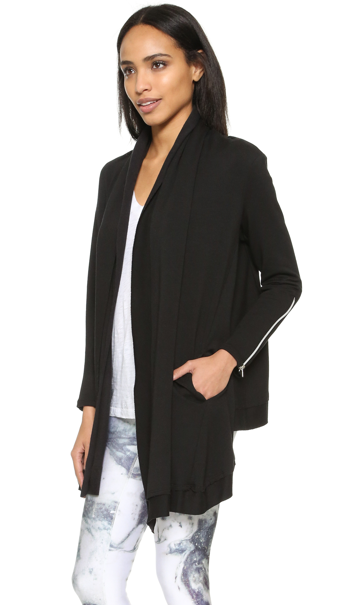 uk terry black drape cardigan fashion n cardigans anybody jumpers qvc c french front drapes