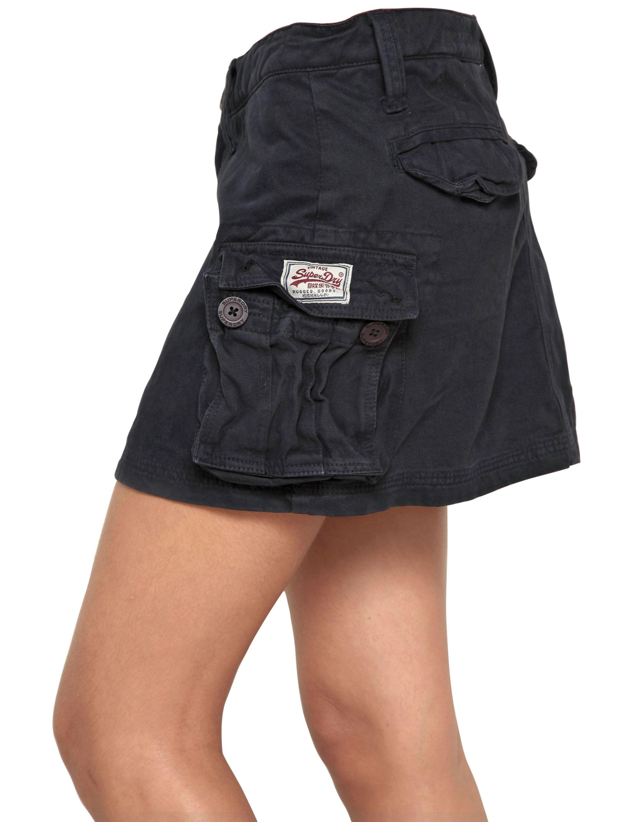 Superdry Cotton Cargo Skirt in Black - Lyst 7394298e68bf
