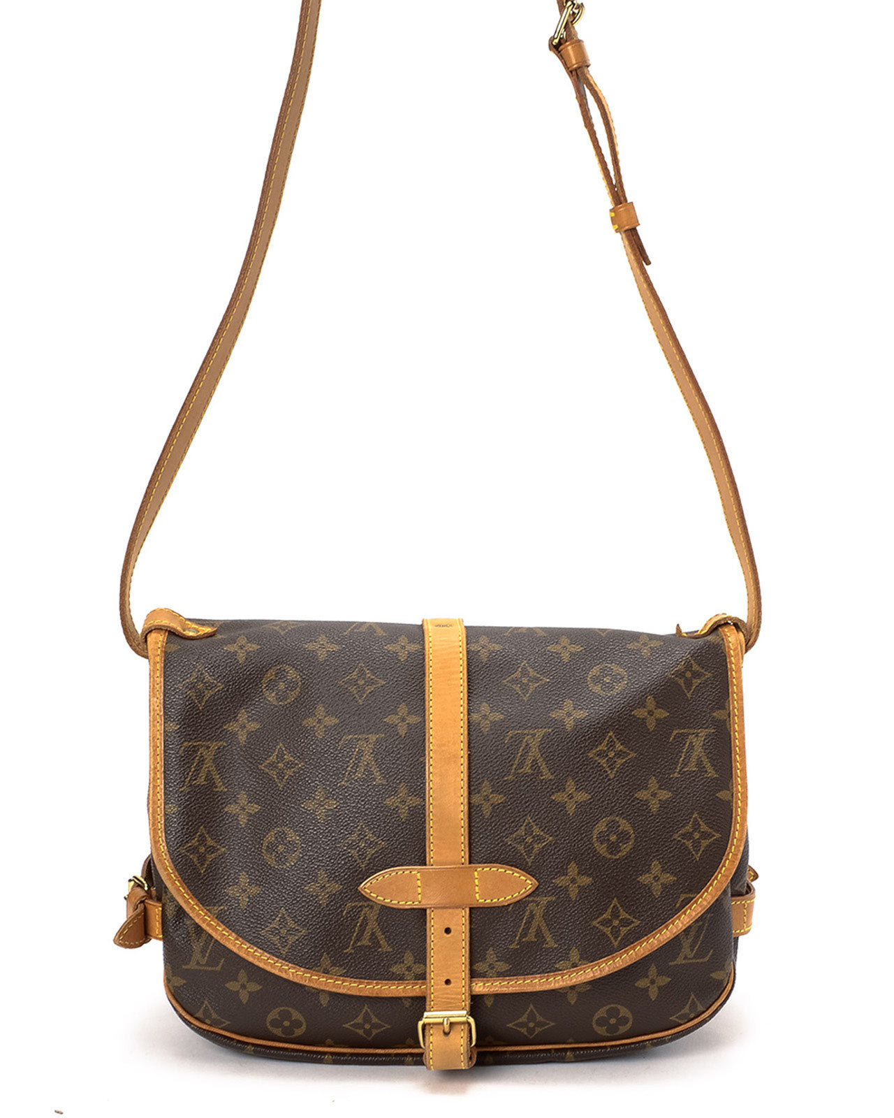 Louis vuitton monogram saumur 30 shoulder bag in brown lyst for Louis vuitton miroir bags