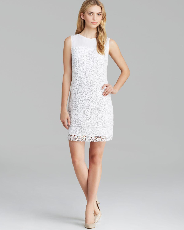 Lyst - Elie Tahari Lillian Vine Lace Dress in White