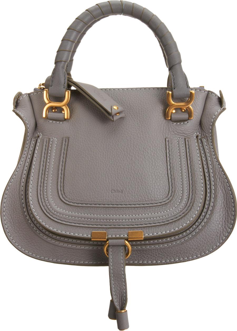 Chlo¨¦ Marcie Mini Shoulder Bag in Gray (Grey) | Lyst