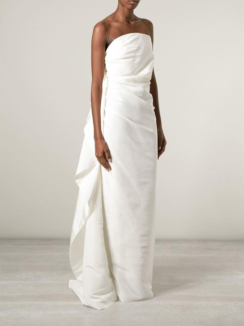 Lyst - Lanvin Strapless Bridal Dress in White
