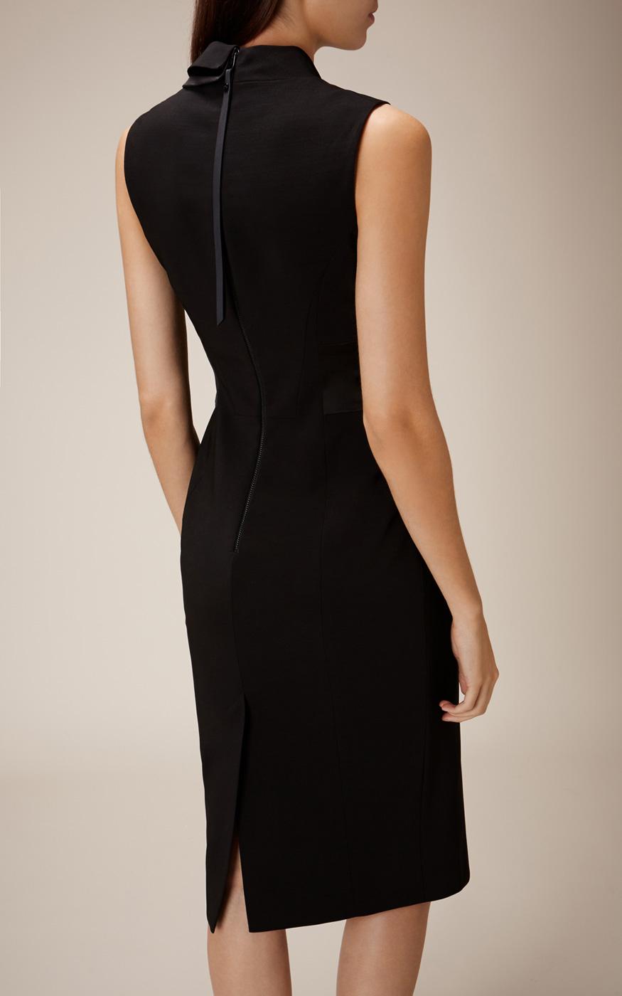 Karen Millen Tuxedo Pencil Dress In Black Lyst