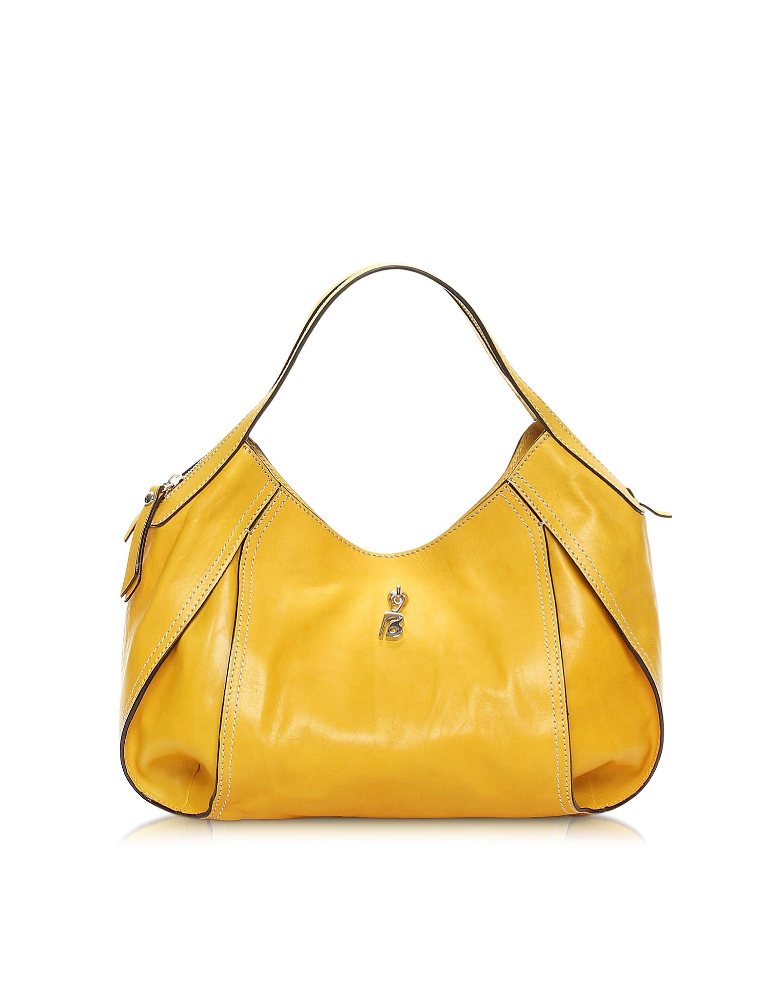 Lyst - Francesco Biasia Copacabana Amber Yellow Leather Shoulder Bag ... ad1e320b3bdb3