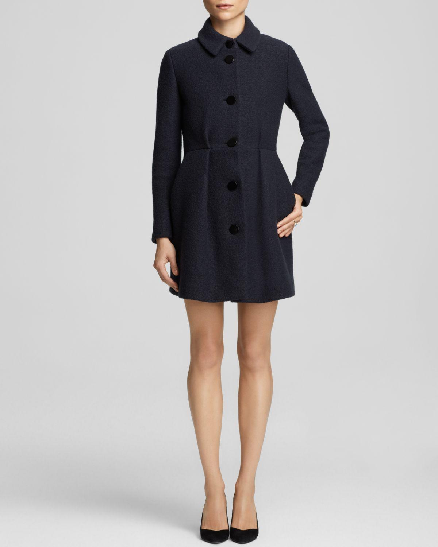 Maje Feminine Wool Coat - Bloomingdale'S Exclusive in Blue | Lyst