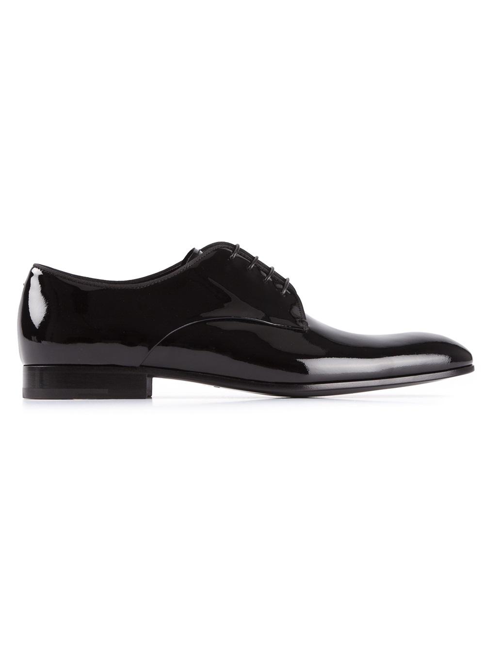 Giorgio armani Dress Shoe in Black for Men | Lyst