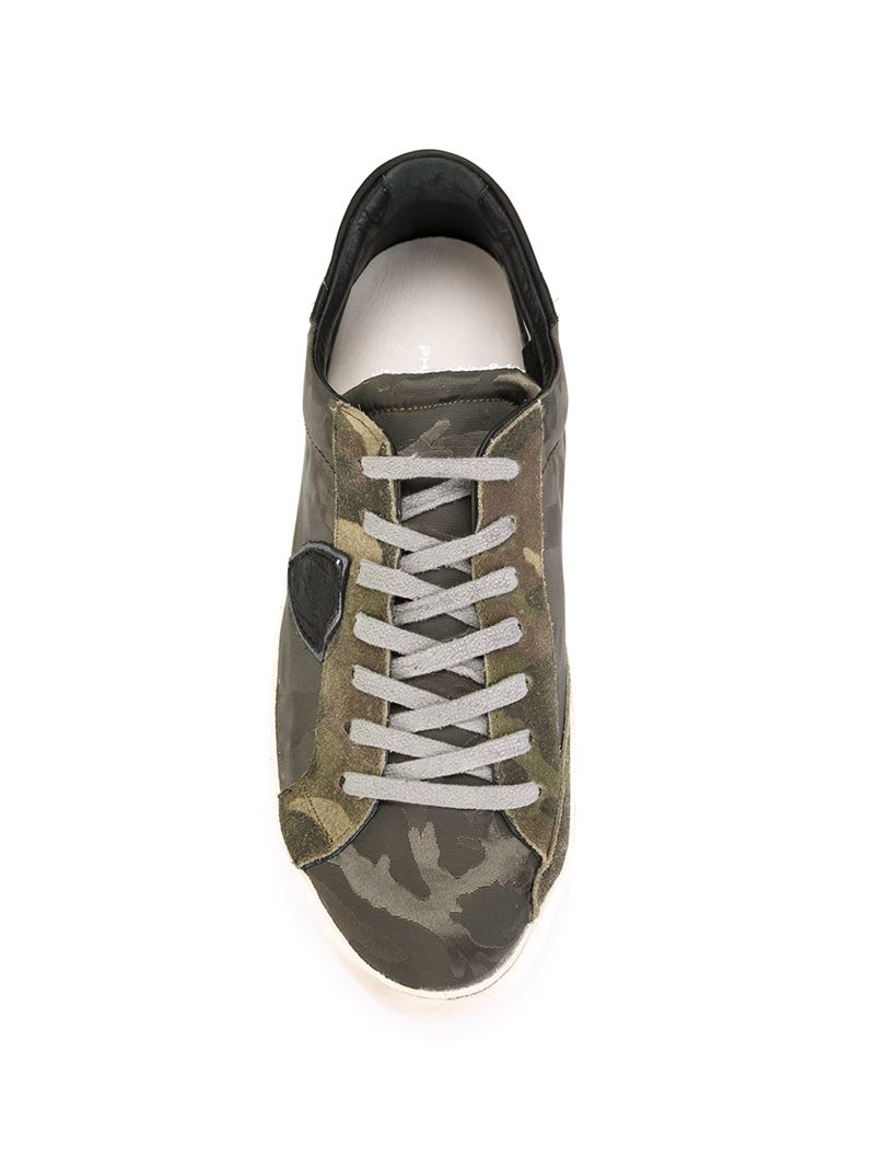 Philippe Model Camouflage Sneakers In Natural For Men Lyst