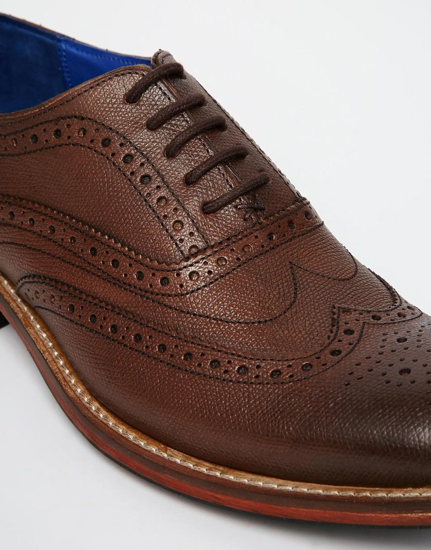 47317c706242e Lyst - Ted Baker Guri Oxford Leather Brogues in Brown for Men