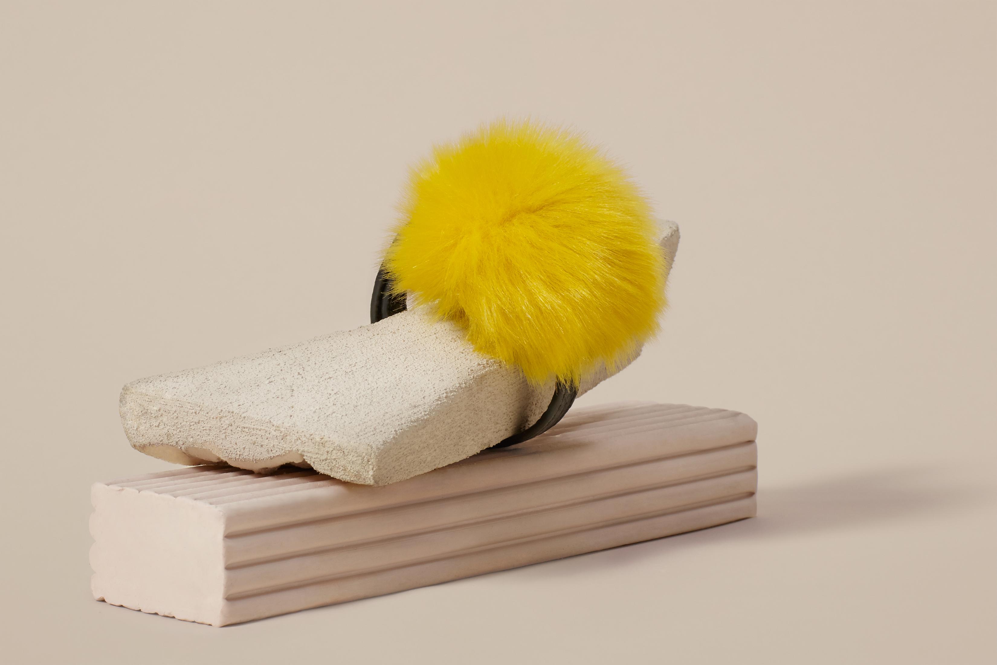 Lyst Finery London Dimble Pom Pom Leather Bracelet In Yellow