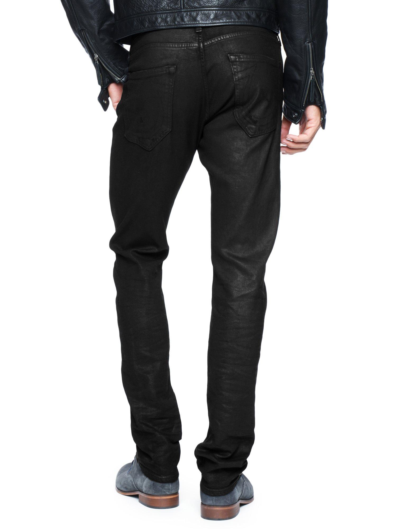 True religion Geno Relaxed Slim Black Mens Jean in Black ...