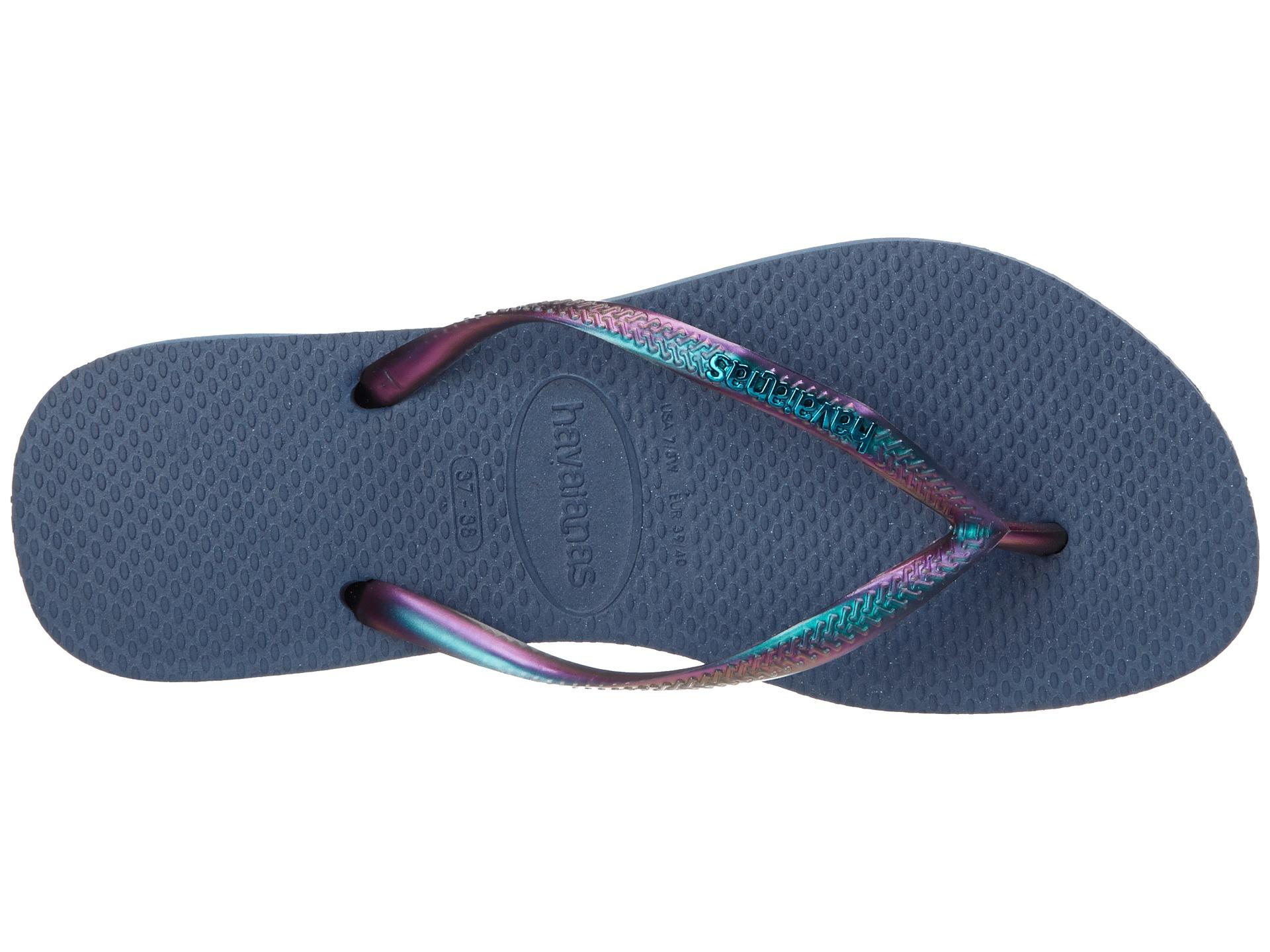 3121d442e Lyst - Havaianas Slim Furta Cor Flip Flops in Blue