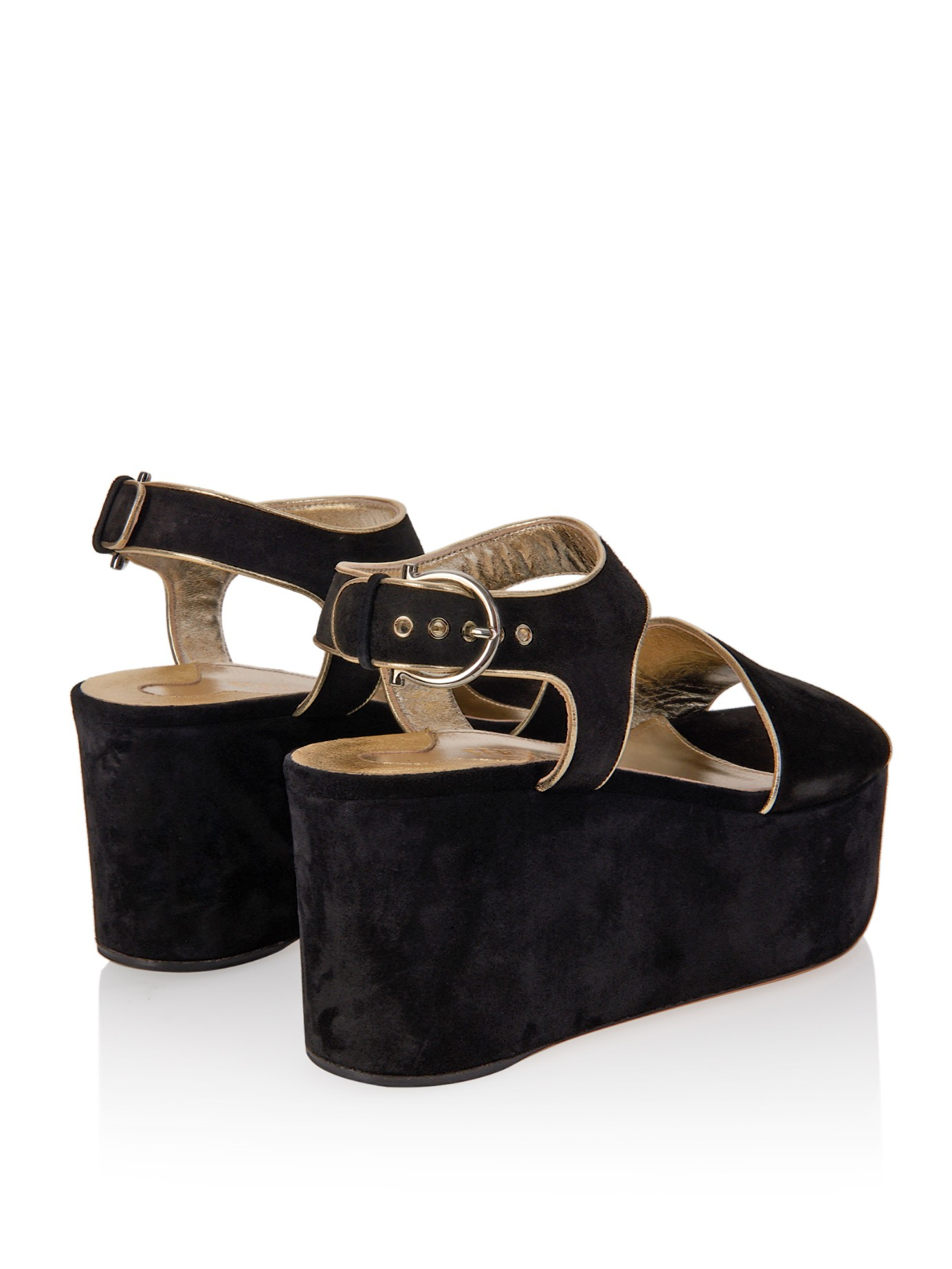 Salvatore Ferragamo Suede Platform Wedges clearance prices sale countdown package buy online cheap the cheapest cheap price latest collections online qxgYrwME