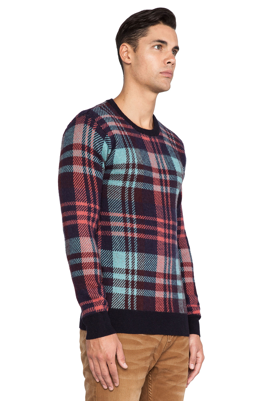 scotch soda crewneck pullover in multicolor for men. Black Bedroom Furniture Sets. Home Design Ideas