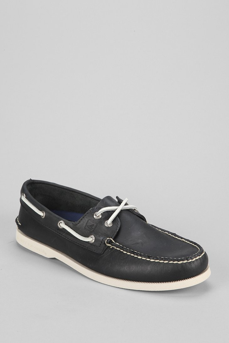 sperry top sider top sider classic boat shoe in black for