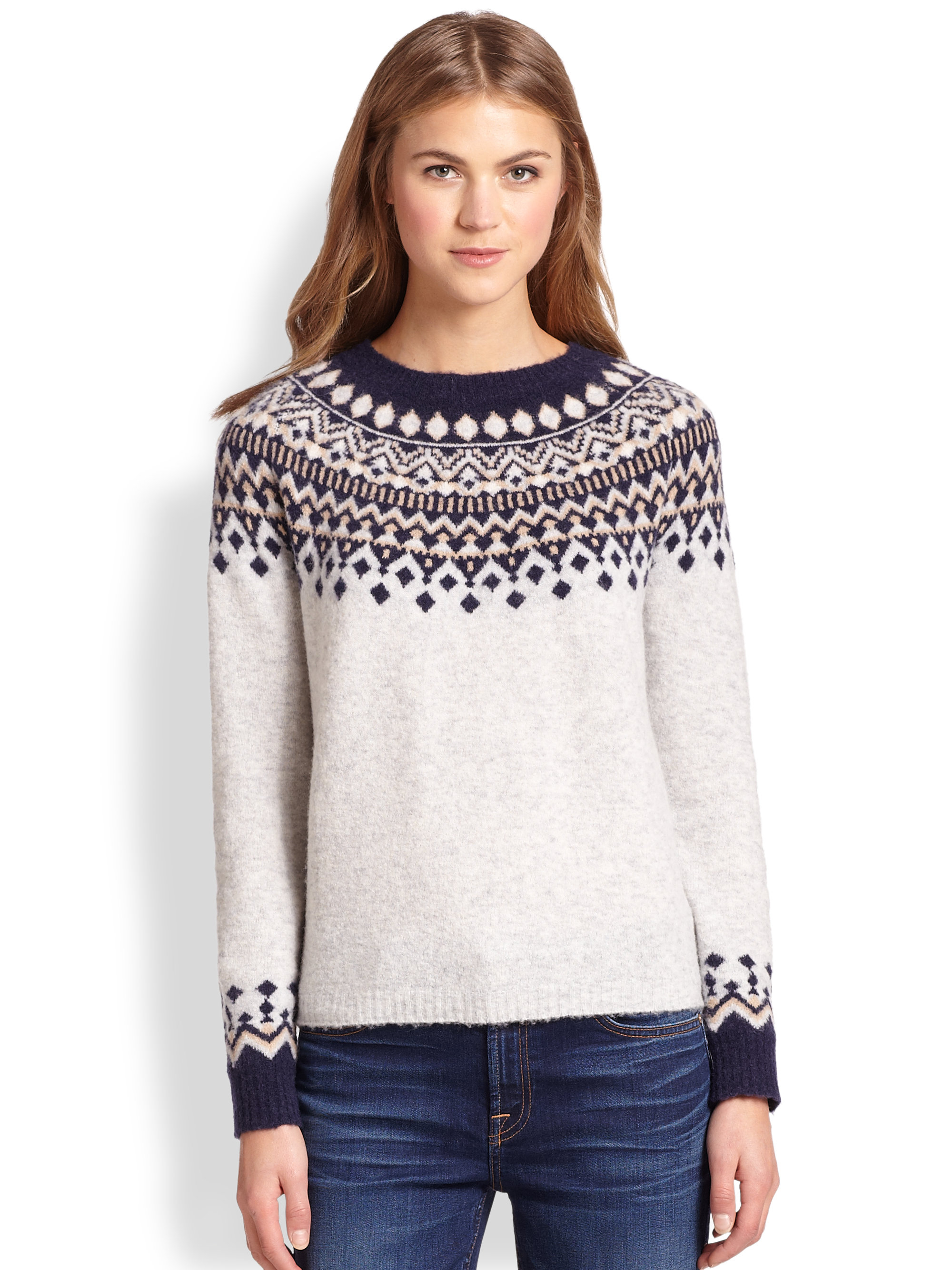 joie fair isle sweater her sweater. Black Bedroom Furniture Sets. Home Design Ideas