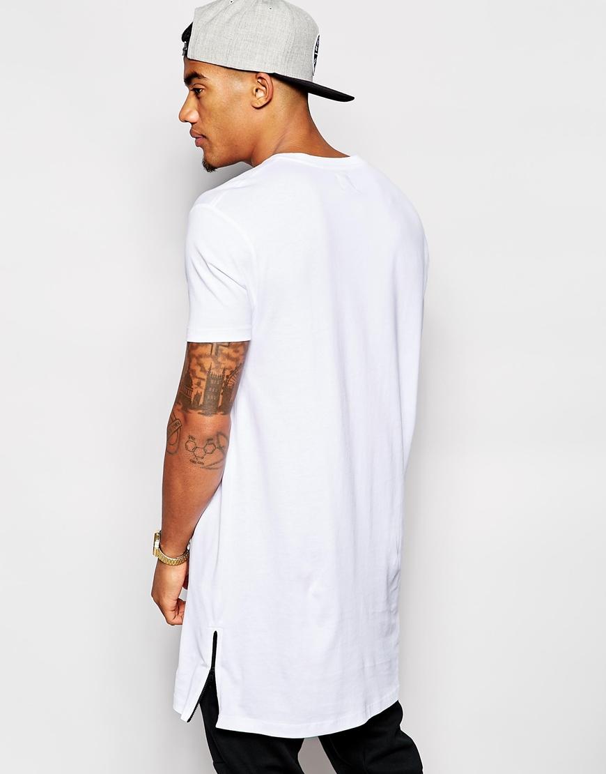 Longline T Shirts Mens Fashion