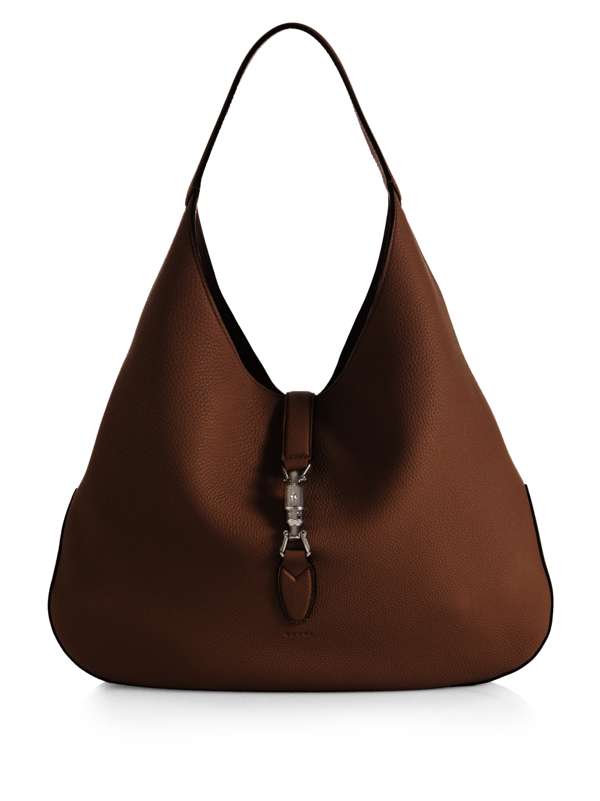 Gucci Jackie Soft Leather Hobo Bag in Brown | Lyst
