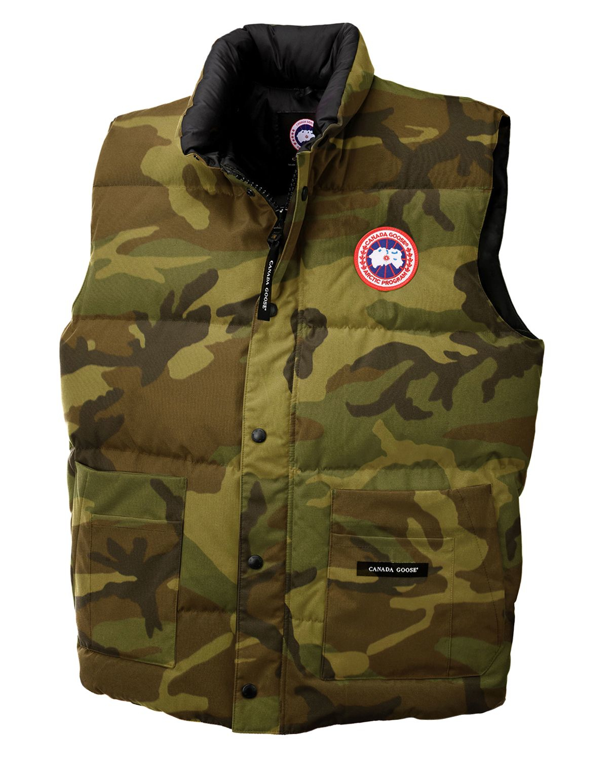 canada goose freestyle down vest in green for men classic. Black Bedroom Furniture Sets. Home Design Ideas