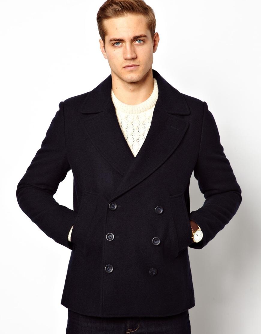 Navy Pea Coat Mens - Tradingbasis