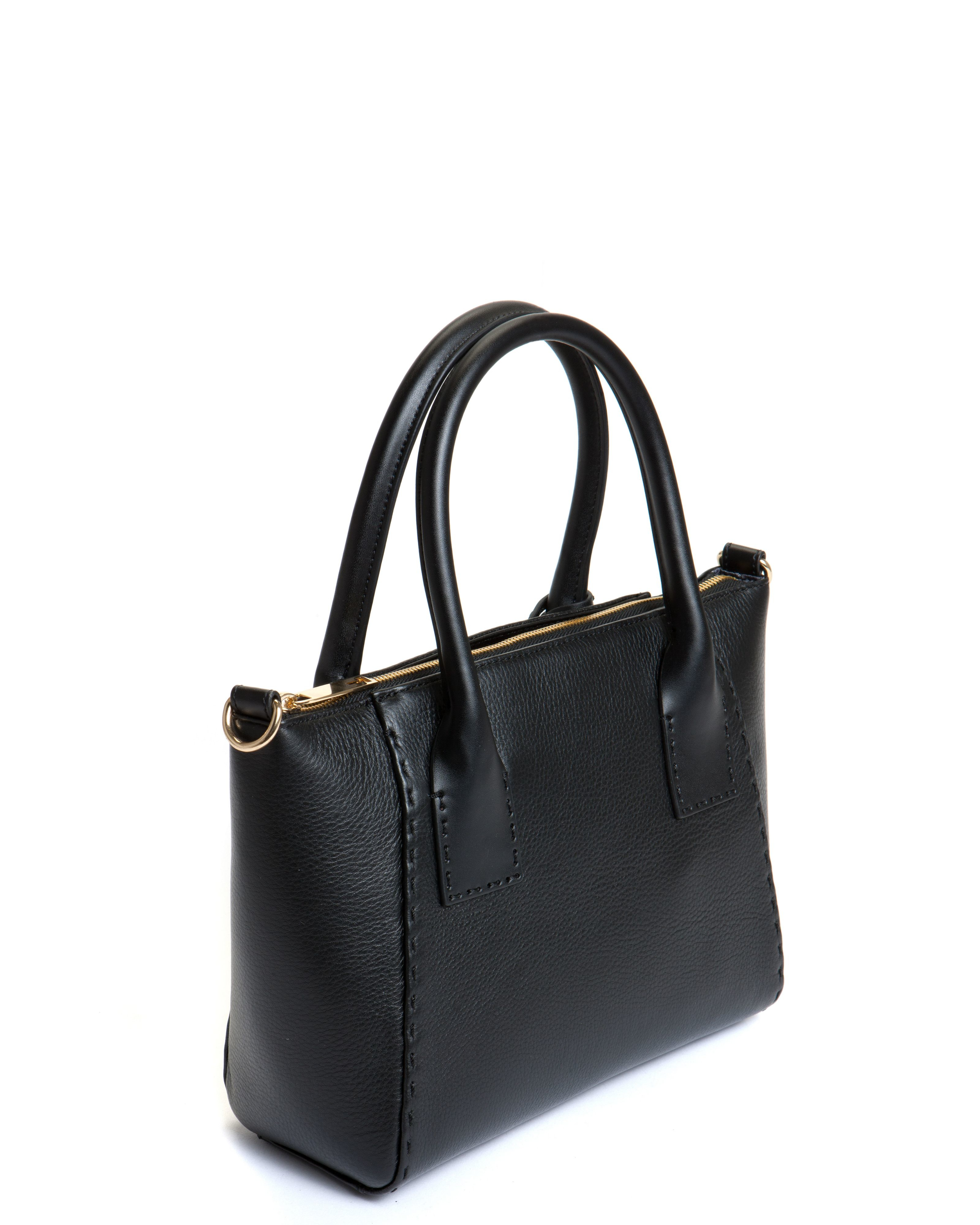 Ted baker Lauren Small Leather Tote Bag in Black | Lyst