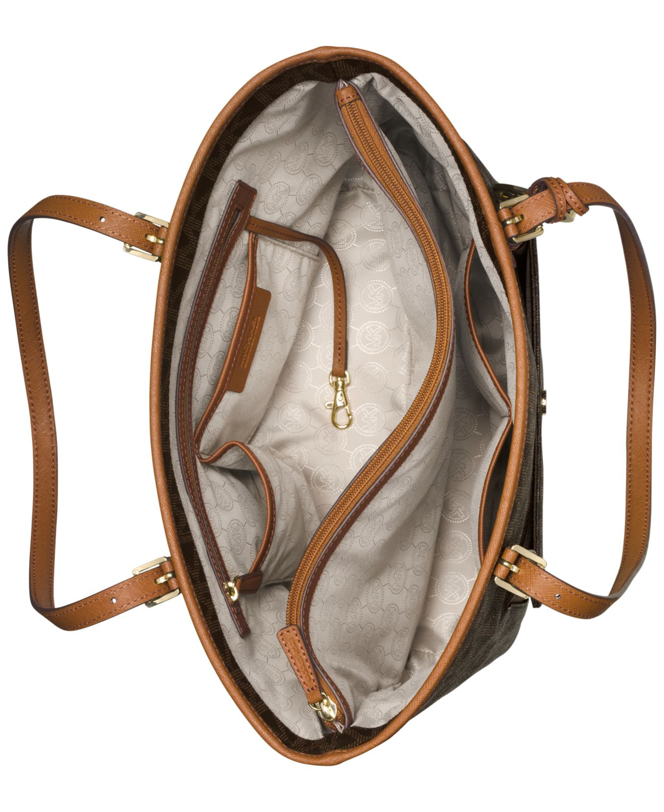 008d7a084003 Top Lyst - Michael Kors Michael Jet Set Large Snap Pocket Tote in Brown BN51
