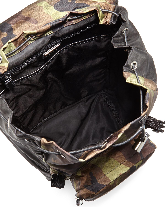 Prada Men\u0026#39;s Camouflage-print Nylon Backpack in Multicolor for Men ...