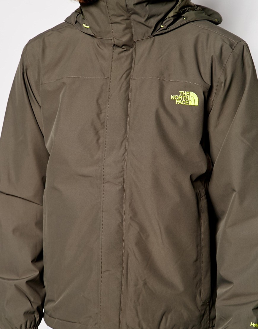 ... best price lyst the north face resolve insulated jacket in green for men  0c070 e7683 a19fdf8dc