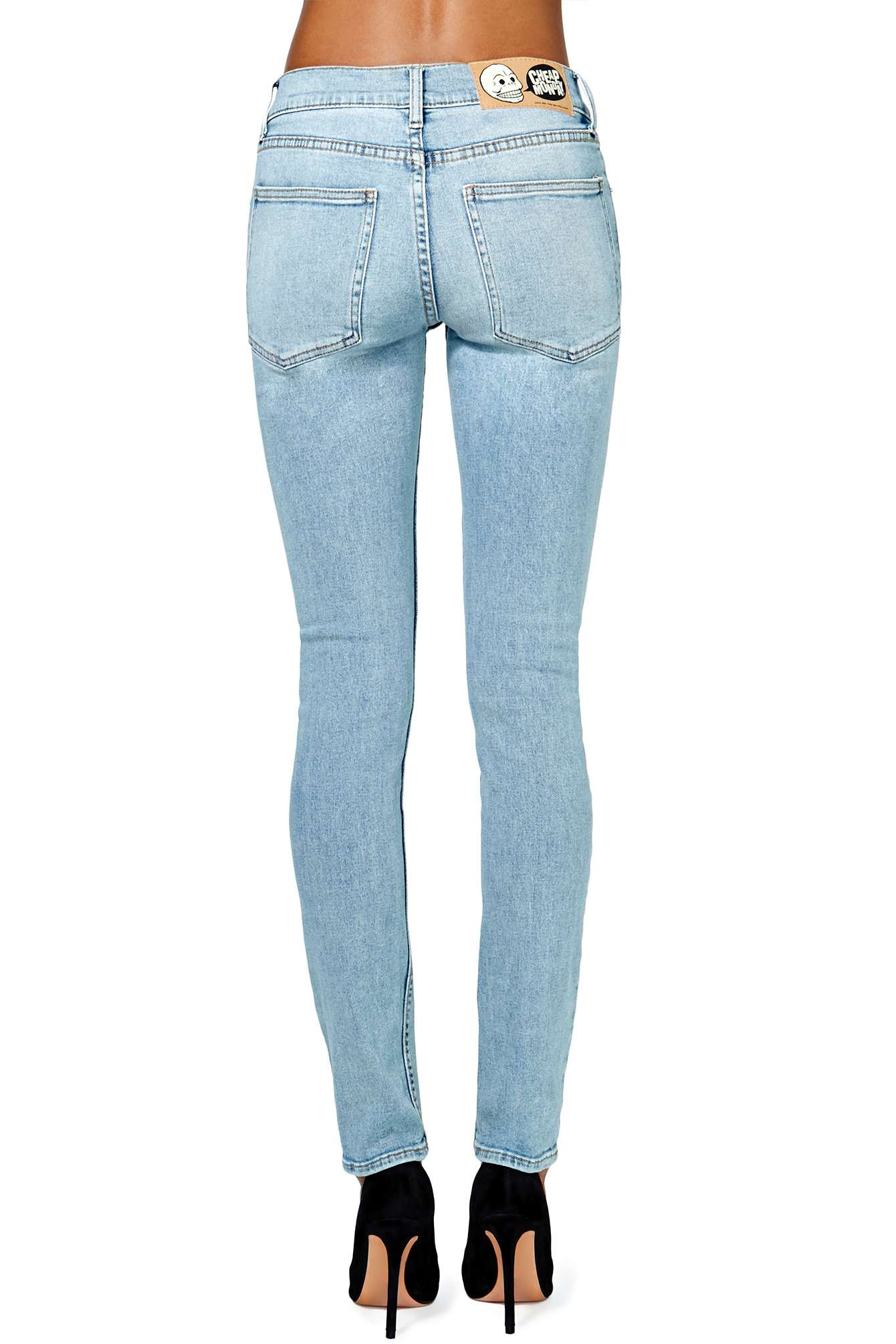 Nasty gal Cheap Monday Tight Skinny Jeans Light Wash in Blue | Lyst