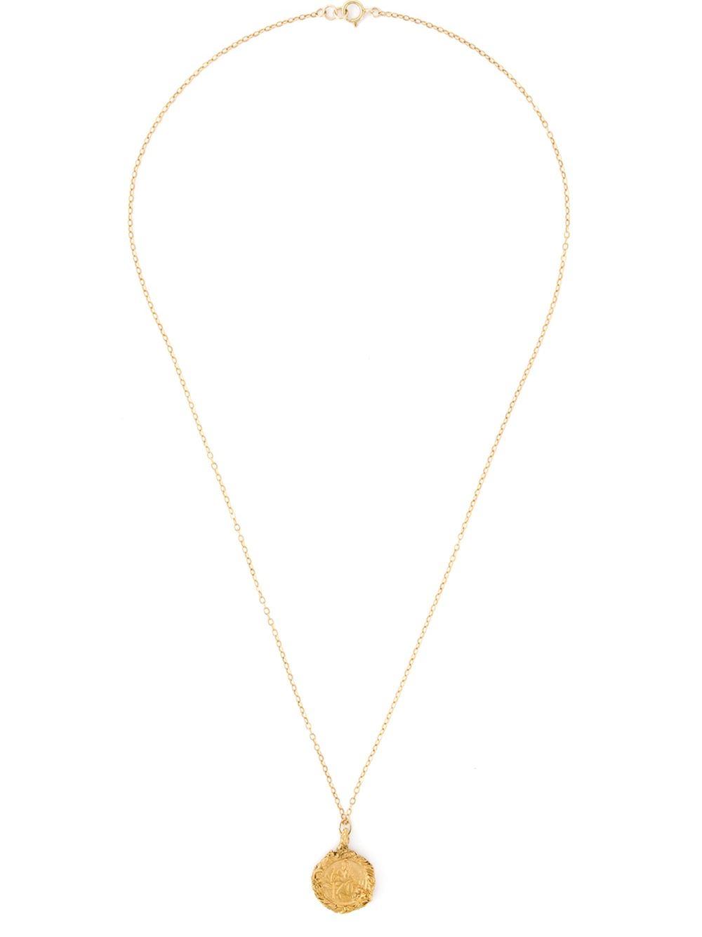 Lyst alighieri st christopher pendant necklace in metallic gallery aloadofball Choice Image