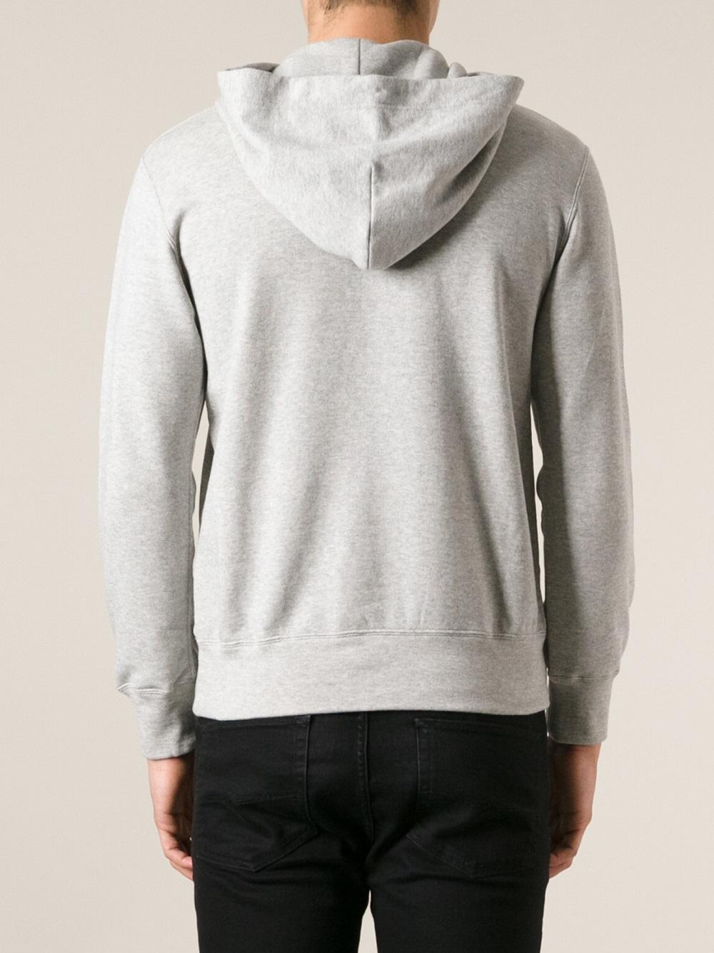 comme des gar ons heart logo hoodie in gray for men lyst. Black Bedroom Furniture Sets. Home Design Ideas