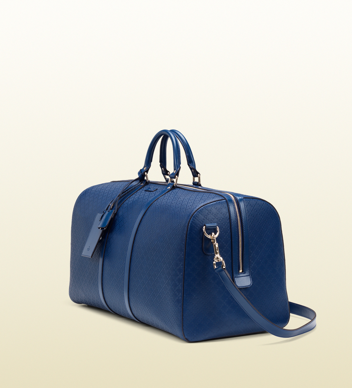 12e7bdf1dfd Lyst - Gucci Bright Diamante Leather Carry-on Duffle Bag in Blue for Men