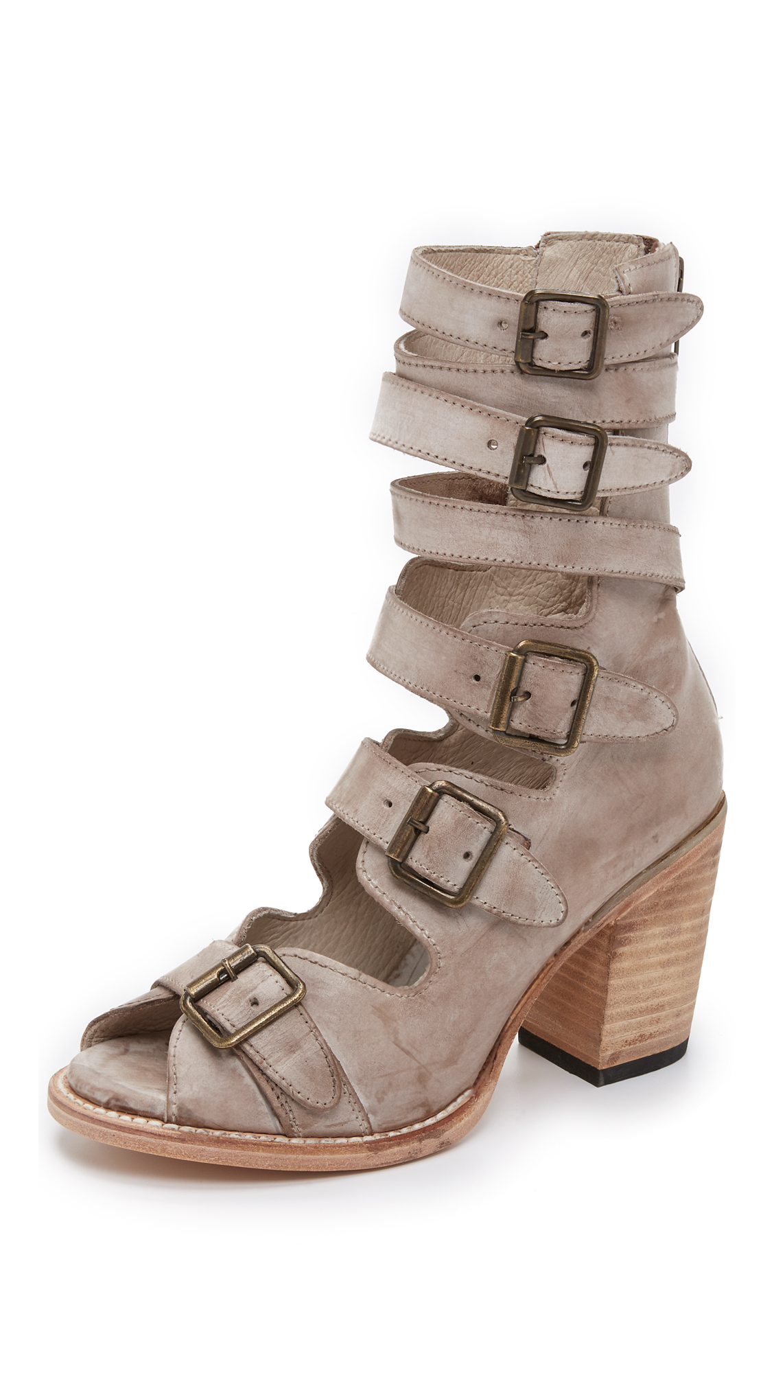b9497fe35a8 Lyst - Freebird by Steven Bond Sandals - Taupe in Gray