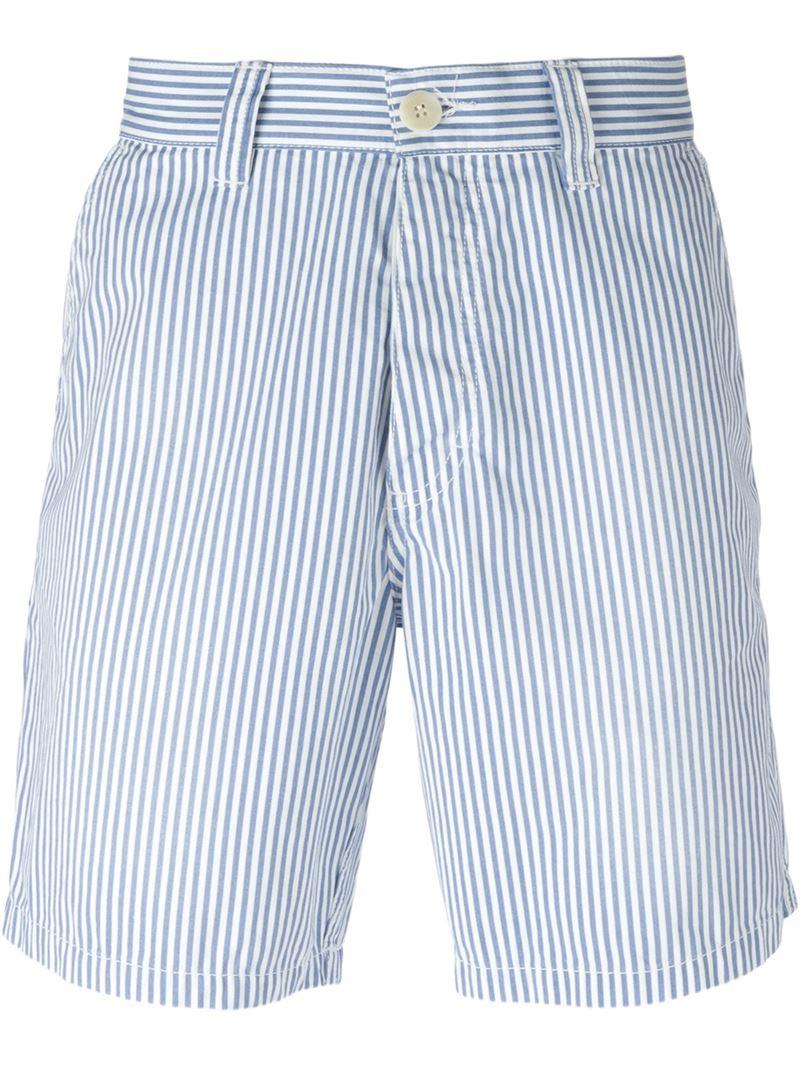 Vilebrequin Striped Bermuda Shorts in Blue for Men | Lyst