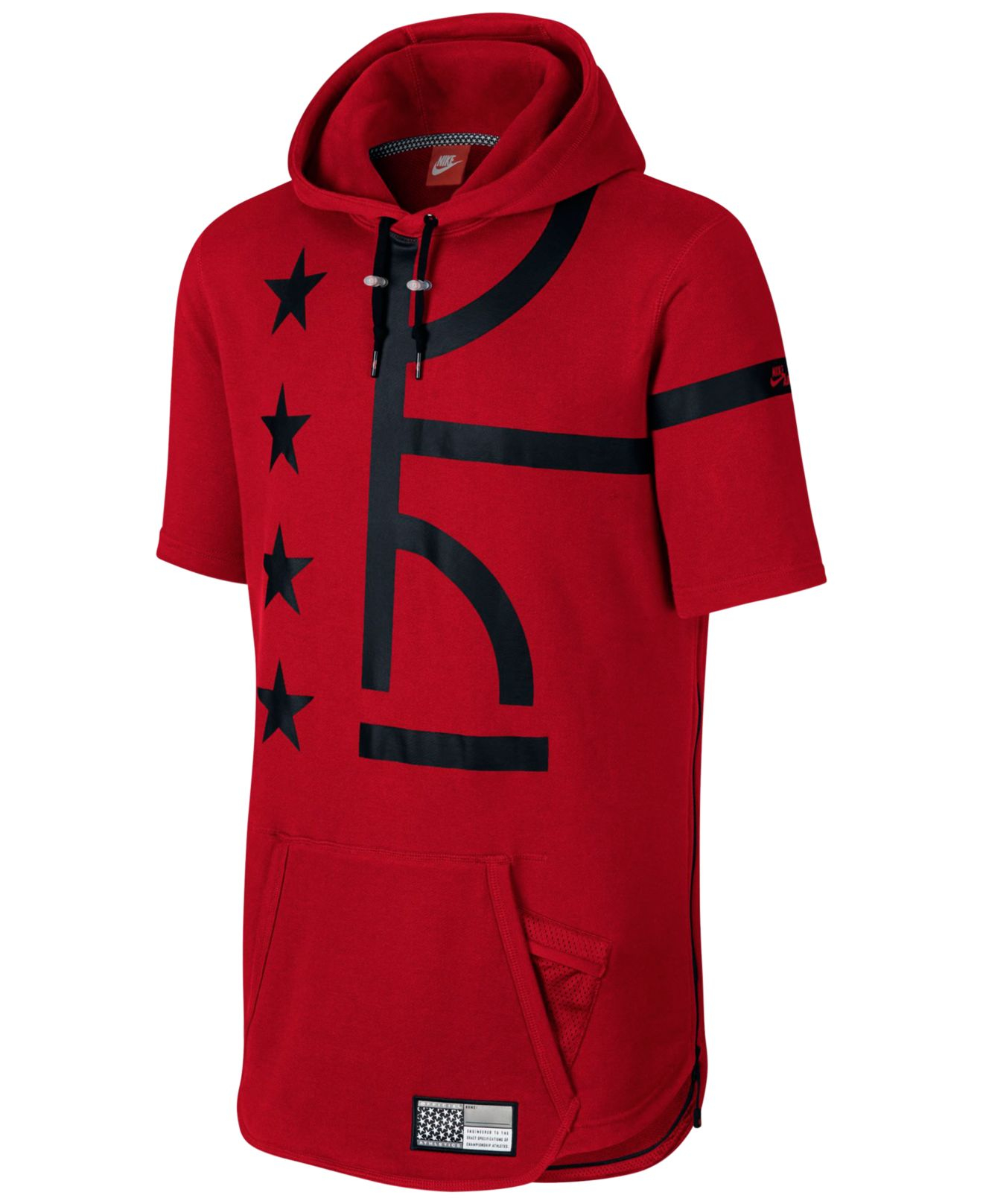Nike Men's Air Pivot V3 Short-sleeve Hoodie in Red for Men | Lyst