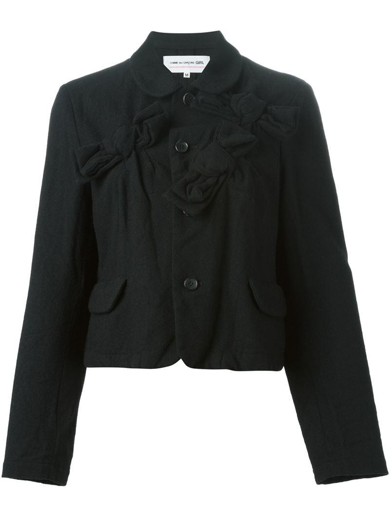Lyst Comme Des Gar 231 Ons Bow Detail Jacket In Black