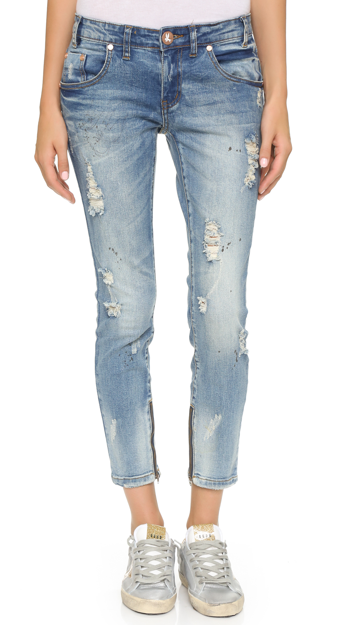 one teaspoon blue blonde freebird jeans in blue lyst