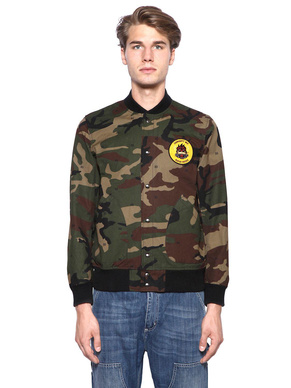 Lyst Carhartt Loop Camouflage Printed Nylon Jacket In