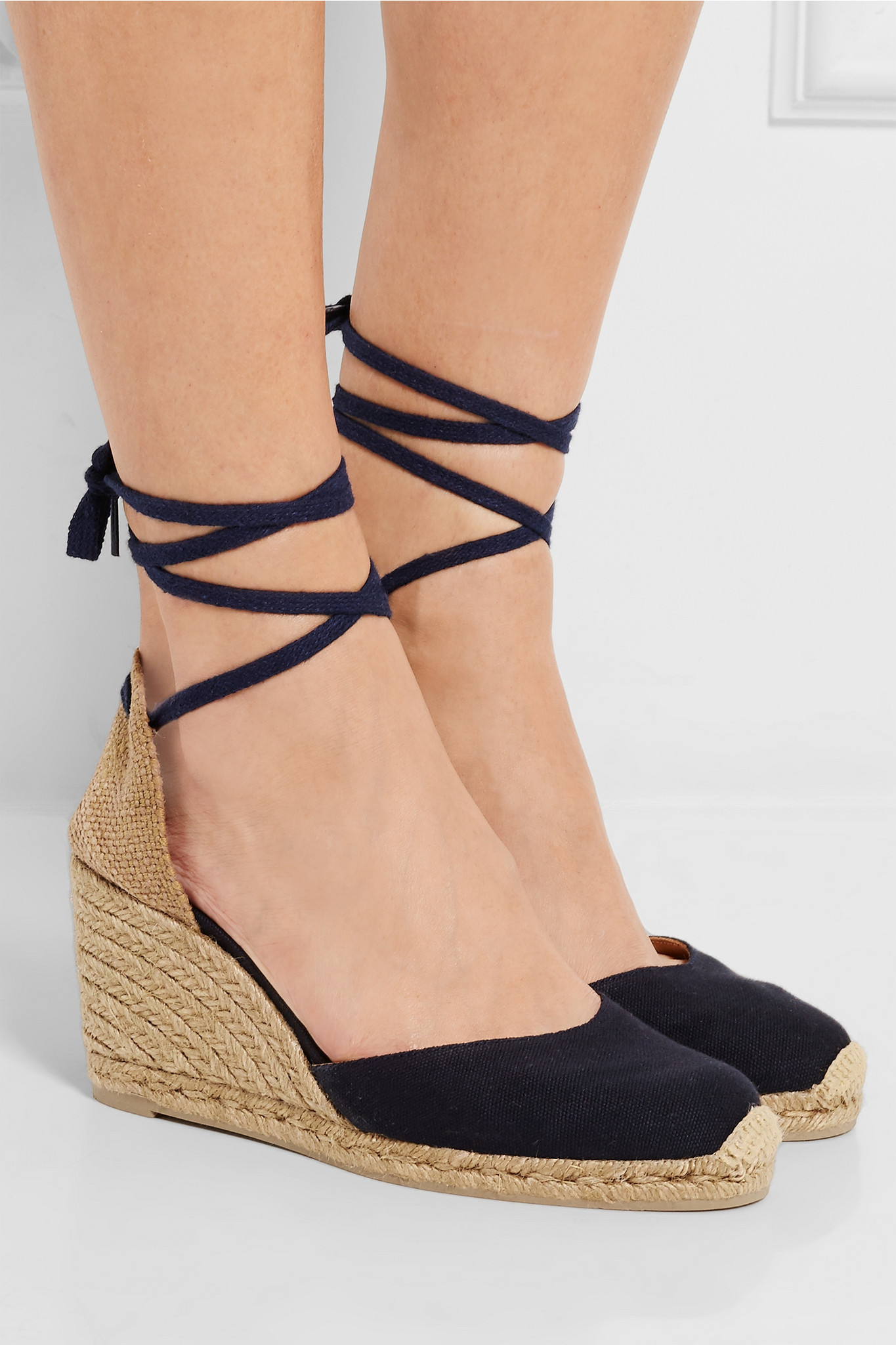Lyst Castaner Carina Canvas Wedge Espadrilles In Blue
