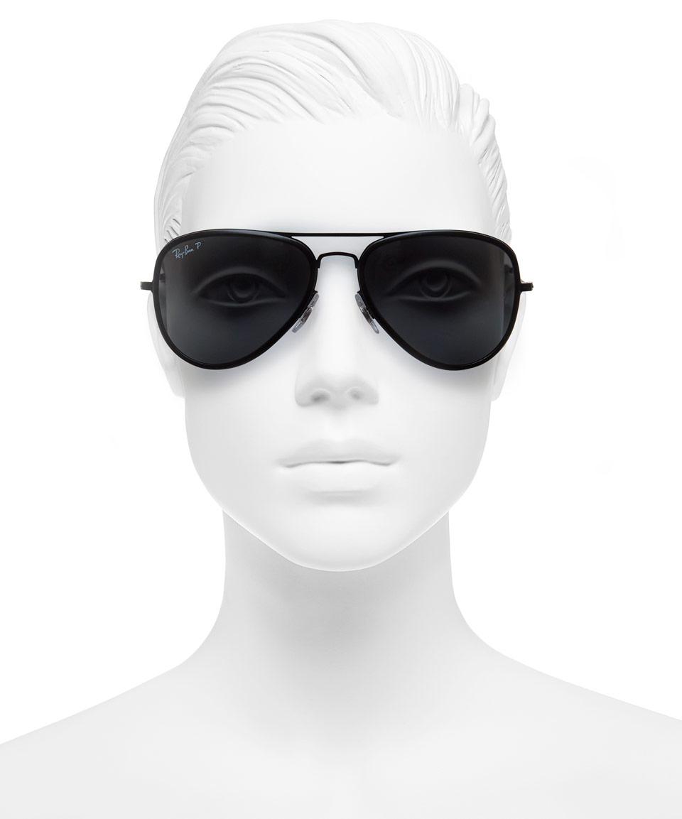 86c93dc3723 Lyst - Ray-Ban Large Black Metal Rim Aviator Sunglasses in Black for Men