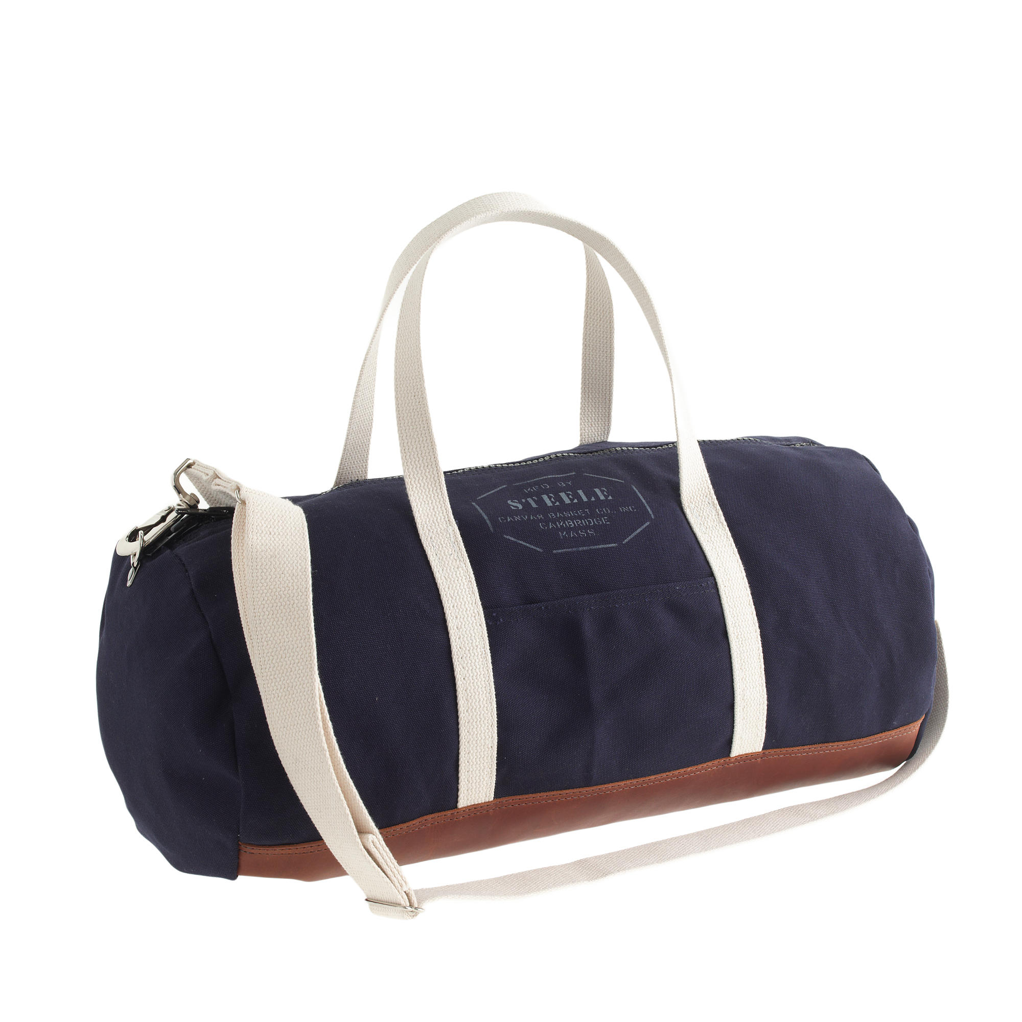 Lyst - J.Crew Steele Canvas Basket Co For Leathertrim Gym Bag in ...
