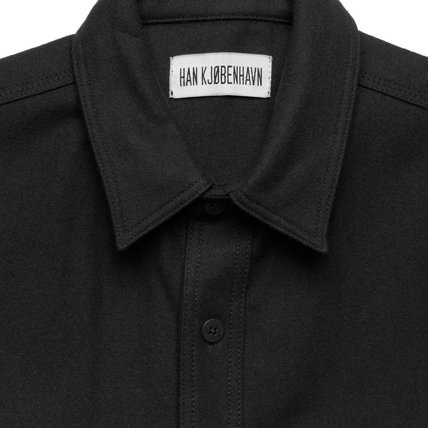 Han Kjobenhavn Black Army Shirt In Black For Men Lyst