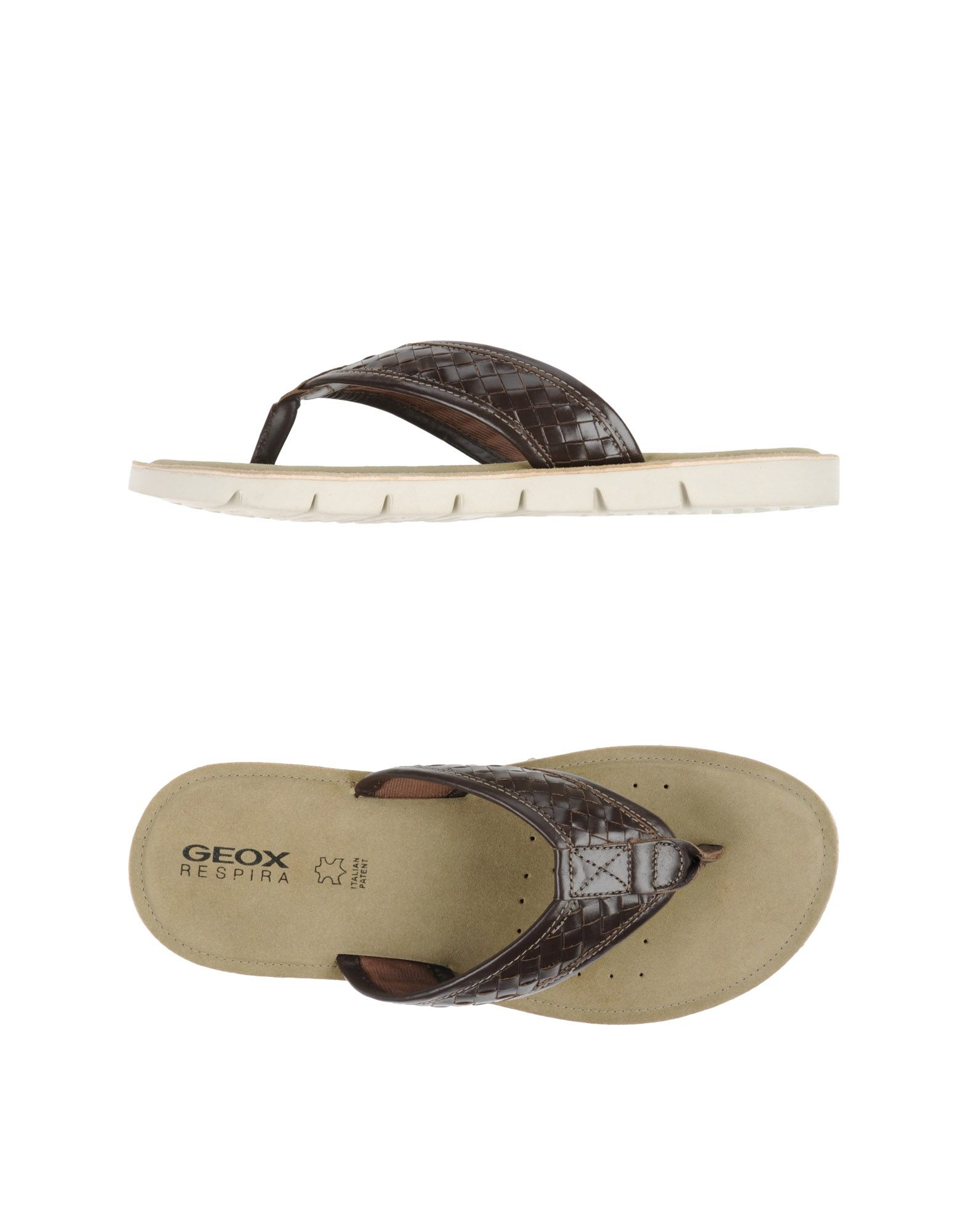 155c8b8a4 Geox Thong Sandal in Brown for Men - Lyst