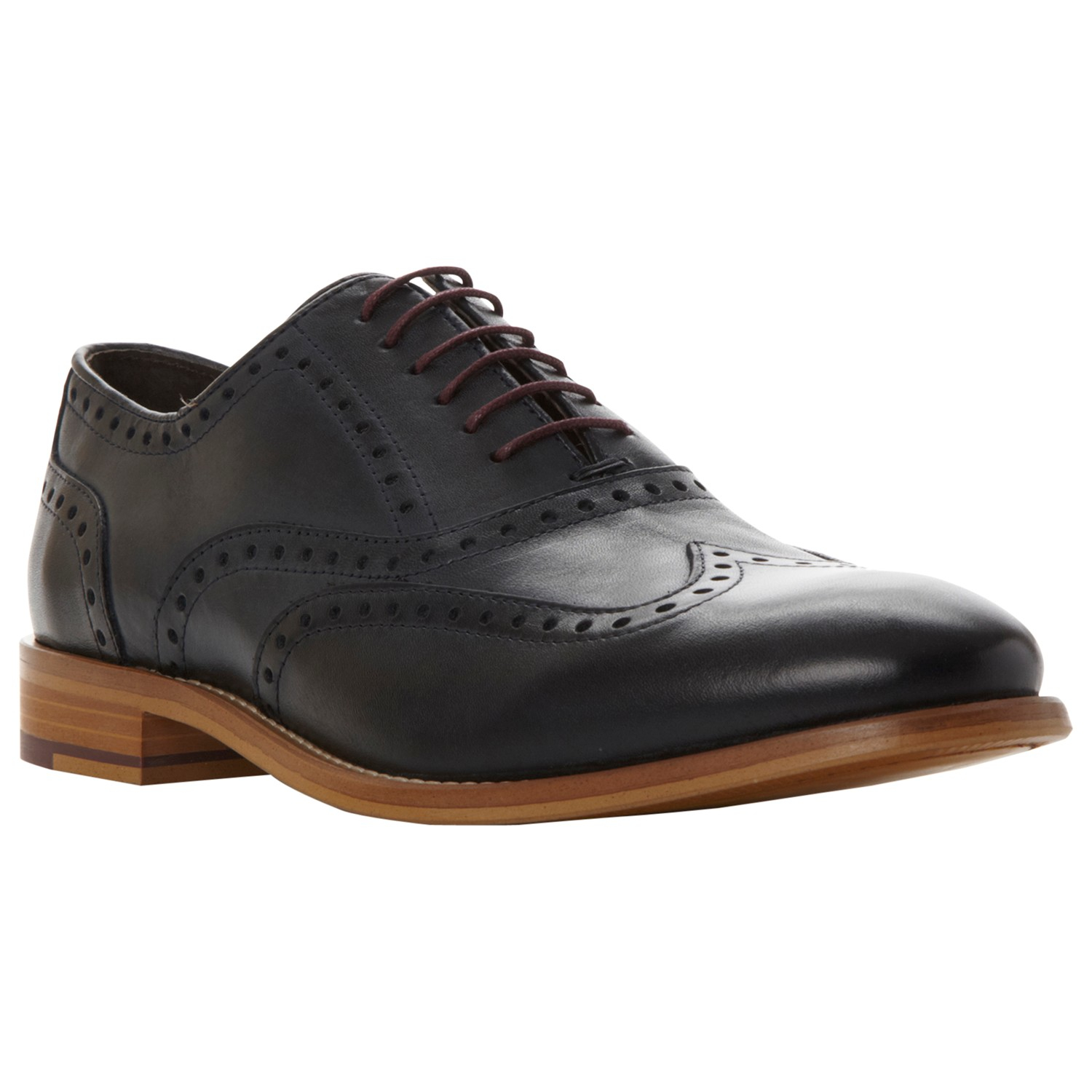 Dune Bettalion Lace-up Brogues in Black for Men