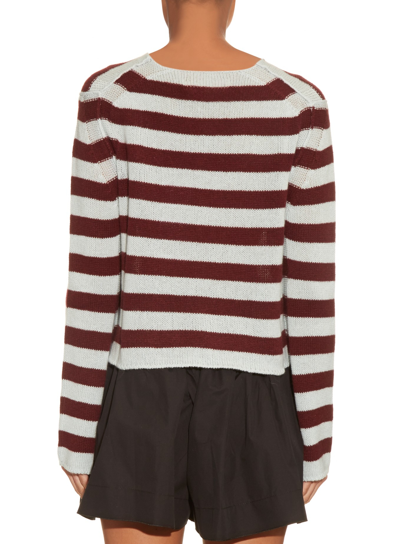 You blue and burgundy striped mens sweaters the truth