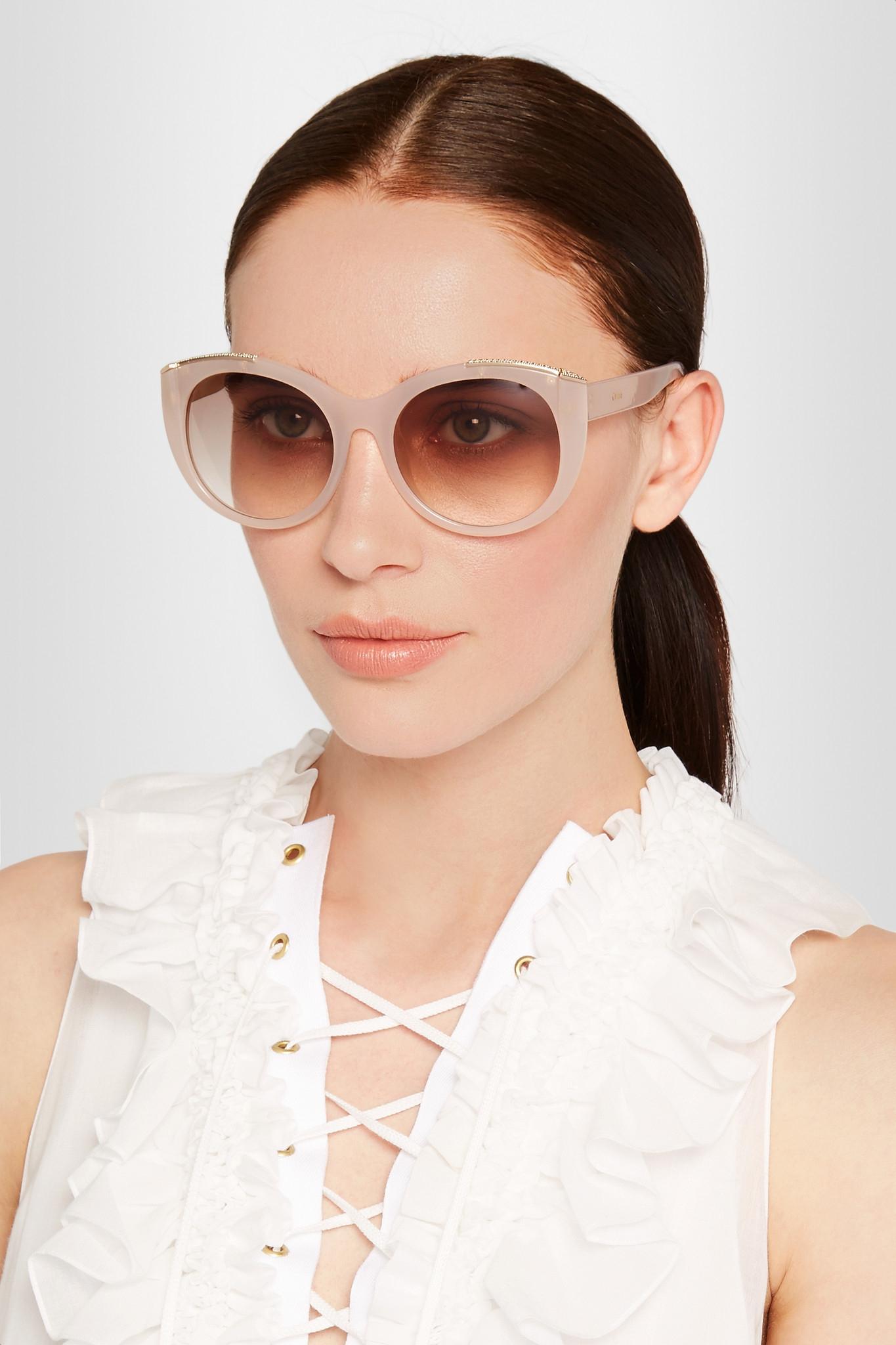 03997a54111 Chloe Style Round Sunglasses