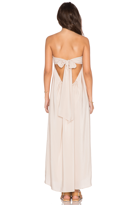 2441b13d661b Amanda Uprichard Tie Back Maxi Dress in White - Lyst